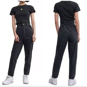 NEW Levi's | Black High Waisted Taper Jeans
